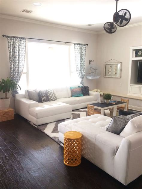 living room  leather sectionals facing