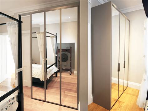 white bedroom ideas contemporary mirrored fitted wardrobe bespoke furniture