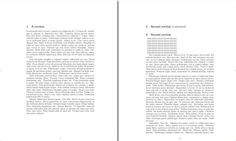 Do You Put Name On Second Page Of Resume by Sectioning How To Generate A Quot Continued Quot Heading After