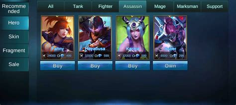 Mobile Legends Hayabusa Mobile Legends Bang Bang T