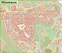 Olomouc city center map