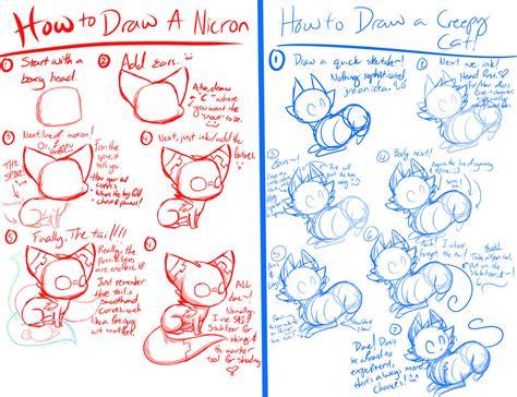 feline drawing tutorial  flamesvoices  deviantart