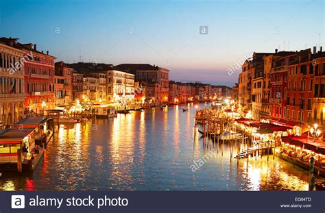 Skyline Of Venice In Beautiful Twilight Colors Italy