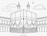 Kabah Arabic Coloring sketch template