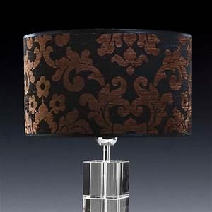 Lampenschirm Schwarz : lampenschirm schwarz braun gemustert rund 35 x 20 cm ~ Pilothousefishingboats.com Haus und Dekorationen