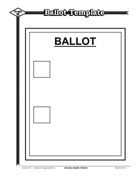 ballot template word ballot template best template idea