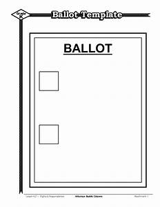 ballot template best template idea With free voting ballot template