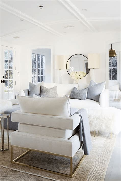 White Living Room Arm Chairs by Benjamin Simply White Benjamin Simply White