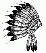 Hat Coloring Native Feather American Indian Headdress Boy Silhouette Feathers Printable Pages Azcoloring Indians sketch template