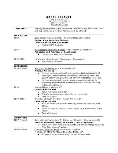 support assistant resume