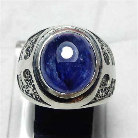 jual cincin batu akik blue safir afrika di lapak dicky gemstone dicky gemstone