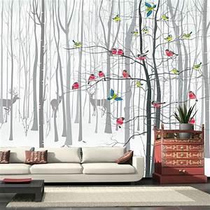 decoration salon moderne avec papier peint 11 nimes With decoration avec papier peint
