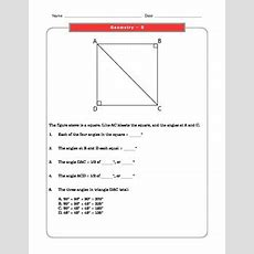 Grade 8 Common Core Math Worksheets Geometry 8g 5 #1 By The Worksheet Guy