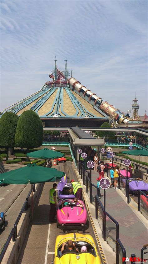 A View Of Autopia And Space Mountain In Discoveryland