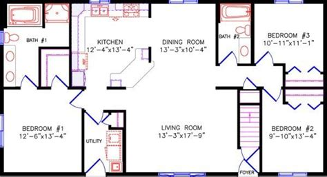 simple  story open floor plan rectangular google search house house plans  story