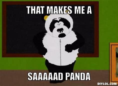 Sad Panda Meme Generator - nuclear fusion off topic mapcore