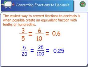 how do you turn decimals into fractions turning a fraction into a decimal laptuoso