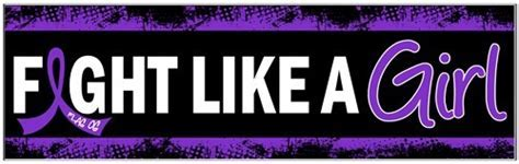 Fight Like a Girl Bumper Stickers with Purple Ribbon