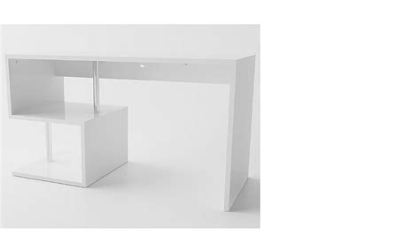 bureau blanc brillant bureau adulte design blanc brillant feerie