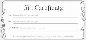 Simple Stylish Gift Certificate Template