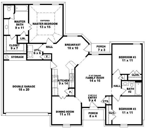 cool  bedroom house plans  story  home plans design