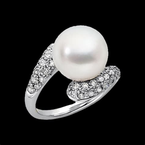 south sea pearl ring unique design   modern woman