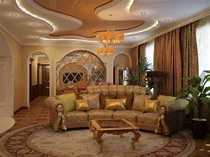 Interior Design Soft Couch Gold Living Room Wallpaper ...