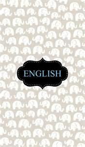 English Binder Cover