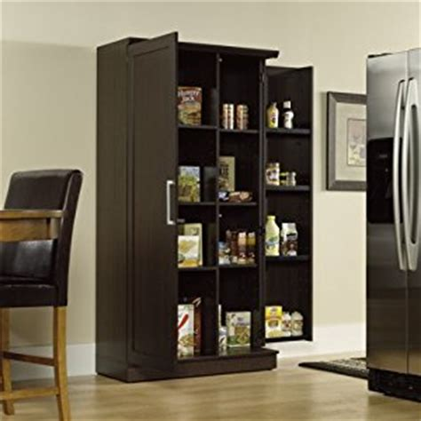 free standing kitchen cabinets amazon amazon com sauder double door storage cabinet large