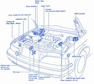 Infinity Gx4 1999 Front Electrical Circuit Wiring Diagram