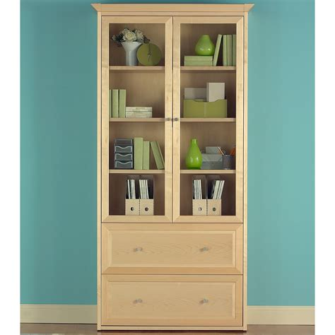 wood bookcase with doors jesper wood bookcase with doors and lateral file