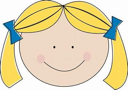 Blonde Clipart Hair Blond Clip Cliparts Woman