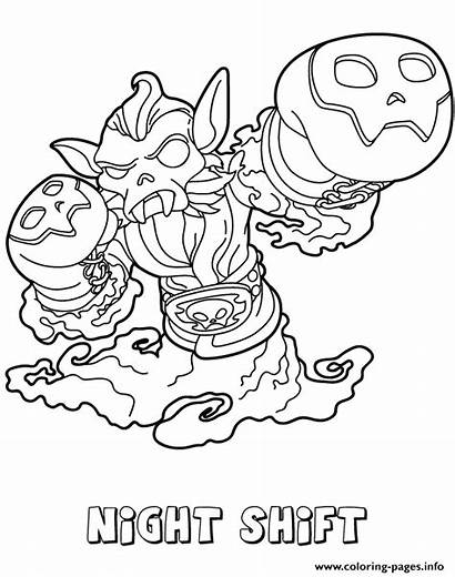 Coloring Pages Force Night Swap Shift Skylanders