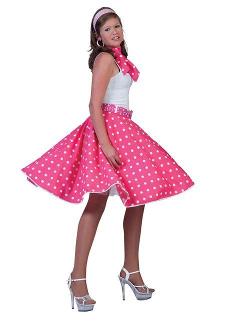 Adult Pink Rock n Roll Skirt - AC049A - Fancy Dress Ball
