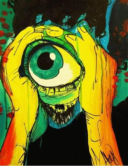 Psychedelic Trippy Acid Lsd Drugs Tripping Eye