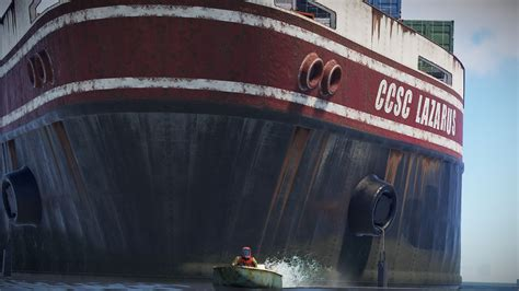 Big Boat In Rust by Rust Has Added A Big Radioactive Boat For You To Squabble