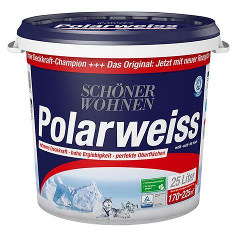 Schöner Wohnen Polarweiss 25 L by Sch 246 Ner Wohnen Polarwei 223 Wei 223 25 L Matt Null Bauhaus