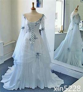 vintage celtic wedding dress medieval bridal gown corset With medieval corset wedding dresses