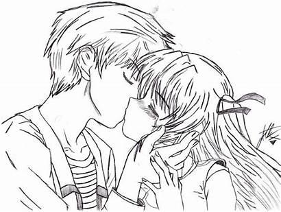 Anime Kiss Kissing Boy Drawing Getdrawings Deviantart