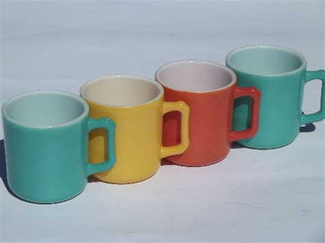 Retro Colors Kitchen Glass Coffee Cups, Vintage Fired On French Express Coffee House Kenner Chrome Glass Top Table Best Beans Peru Australia Online Canada Stone Base Dark Roast Uk Jakarta