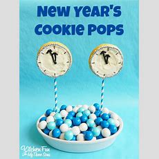 New Year's Cookie Clock Pops  Kitchen Fun With My 3 Sons