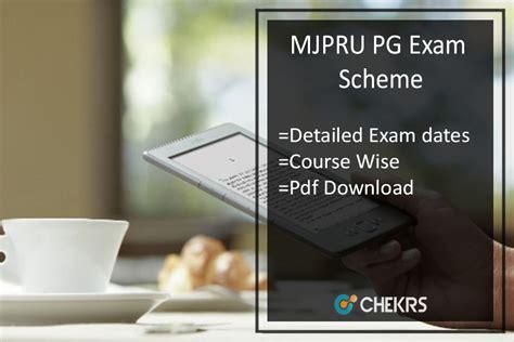 Mjpru Exam Scheme 2019- Rohilkhand Univ Ma Msc Mcom Date Sheet