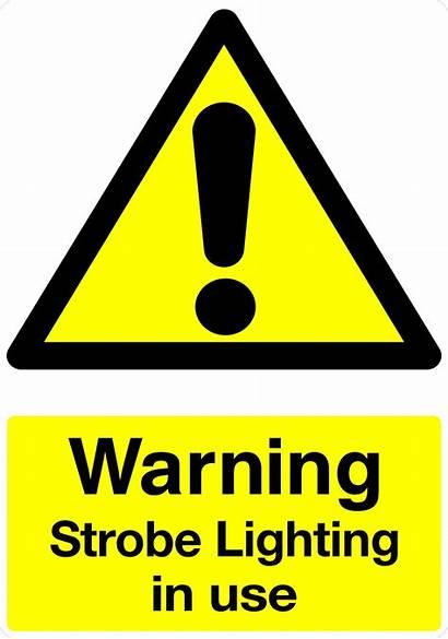 Warning Strobe Sign Lighting Sticker Favourites