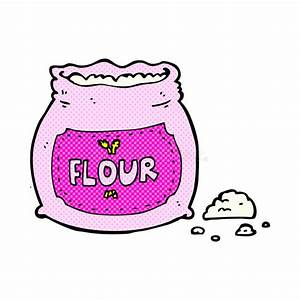 Comic Cartoon Pink Bag Of Flour Stock Illustration - Image ...