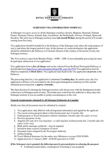 Visa Application Letter Sample Invitation - Invitation