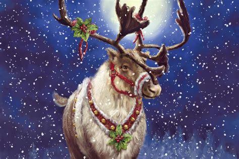 Reindeer Wallpaper Hd by Reindeer Wallpapers Wallpaper Cave