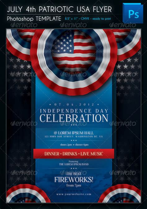 amazing independence day psd flyer templates web