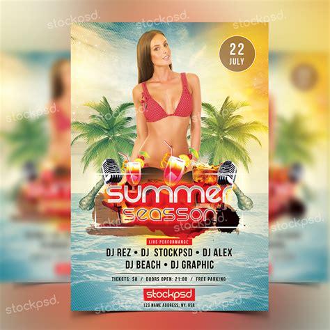 free summer c flyer template get free summer season photoshop flyer template flyershitter