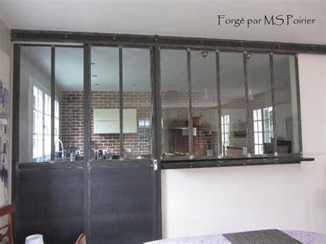 cloison verre cuisine cloison séparation cuisine salon coulissante type atelier