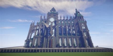 prismarine cathedral minecraft building